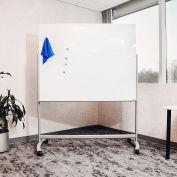 "Global Industrial™ Mobile Glass Board - 60""W x 48""H"