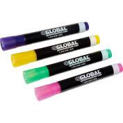 Global Industrial™ Wet Erase Chalk Markers - Pastels - Pack of 4