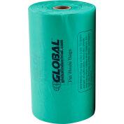 Global Industrial™ Pet Waste Plastic Bags With Tie-Handles, Green, 400 Bags/Roll