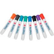 Global Industrial™ Dry Erase Markers, Bullet Tip, Couleurs assorties, Pack 8