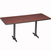 """Interion® Counter Height Breakroom Table, 72""""Lx36""""Wx36""""H, Mahogany"""