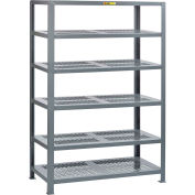 "Little Giant® 6SHP-3048-72 Heavy-Duty Perforated Steel Shelving, 30"" x 48"", 6 Shelves"