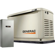 Generac 7030,8/9kW,120/240 1-Phase,Air Cooled Guardian Generator,NG/LP,Alum. Encl.,16-Cir. Switch
