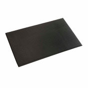 "Ribbed Surface Mat 5/8"" Thick 3'W Cut Length 1Ft Up To 30Ft, Black"