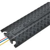 Protecteur de câbles en caoutchouc moulé Global Industrial™, noir