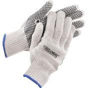 Global Industrial™ PVC Dot Knit Gloves, Single-Sided, Black, X-Large, 1-Dozen