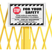 Global Industrial™ Steel Portable Barricade Gate Replacement Sign, Aluminum, For 652923