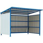 "Global Industrial™ Outdoor Bike Storage Shelter, 16 Bike Capacity, 120""L x 95-1/2""W x 90-1/16""H"
