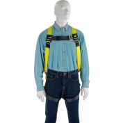 Miller® H11110022 Full Body Harness, Back D Ring, Mating Leg Strap, Black/Yellow