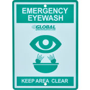 Global Industrial™ Emergency Eyewash Station Sign, Replacement