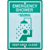 Global Industrial™ Emergency Shower Sign, Replacement