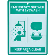 Global Industrial™ Emergency Eyewash/Shower Station Sign, Replacement