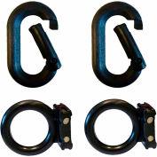 Magnet Ring/Carabiner Kit, Black, Pack of 2