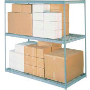 Global Industrial™ Wide Span Rack 96Wx36Dx60H, 3 Shelves Wire Deck 800 Lb Cap. Per Level, Gray