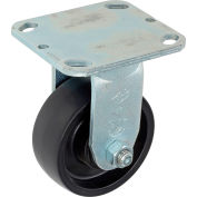 "Global Industrial™ Heavy Duty Rigid Plate Caster 4"" Molded Plastic Wheel 420 Lb. Capacity"