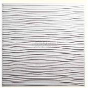 Dalle de plafond PVC Genèse dérives concepteur 751-00, imperméable à l'eau & lavable, 2' L X 2' W, blanc/housse-12