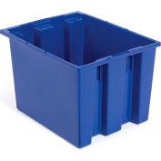 """Akro-Mils nid & pile fourre-tout 35195 - 19-1/2"""" L x 15-1/2"""" W x 13 «H, bleu, qté par paquet : 6"""