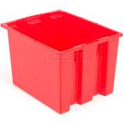 """Akro-Mils nid & pile fourre-tout 35195 - 19-1/2"""" L x 15-1/2"""" W x 13 «H, rouge, qté par paquet : 6"""