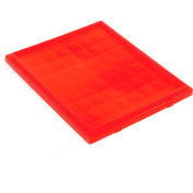 Global Industrial™ Lid LID241 for Stack and Nest Storage Container SNT240, Red - Pkg Qty 3