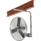 """Global Industrial™ 24"""" Deluxe Industrial I-Beam Mounted Fan - Oscillating - 8650 CFM - 1/2 HP"""