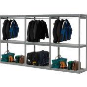 "Boltless Luggage Garment Triple Rack - 144""W x 24""D x 84""H"