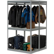 """Global Industrial™ Boltless Luggage Garment Combo Rack - 48""""W x 48""""D x 84""""H"""