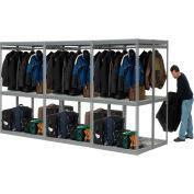 "Global Industrial™ Boltless Luggage Garment Triple Combo Rack - 144""W x 48""D x 84""H"