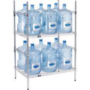 Étagère de rangement pour bouteilles d'eau de 5 gallons, capacité 12 bouteilles