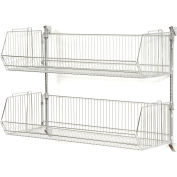 "Wall Mount Basket Kit 48""W x 20""D x 9""H (2 Basket) Chrome"