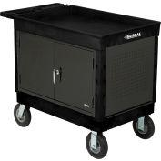 Global Industrial™ Centre de travail mobile extra-fort avec plateau supérieur &8 «Roulettes, noir