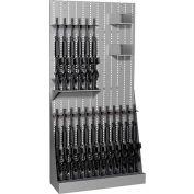 """Datum ArgosRACK Gun Open Rack AWR83-18R2B - Holds 18 Rifles 42""""W x 15""""D x 83""""H Stealth"""