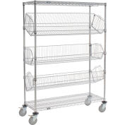 "Ajustable Mobile Wire Rack Bin - W 36"" x 18 « P x 69"" H"