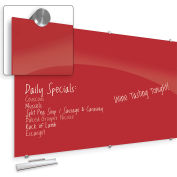 """Balt® Visionary Hierarchy Glass Magnetic Board - Red - 47-1/4""""H X 70-7/8""""W"""