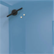 Mosaic Magnetic Glass Markerboard - Denim Blue - 16X16 in.