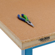 """Global Industrial™ 72""""W x 30""""D x 2-1/4""""H Shop Top Safety Edge Workbench Top"""