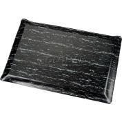 Marbleized Top Ergonomic Mat 3x60 Foot Black