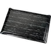 Marbleized Top Ergonomic Mat 2x60 Foot Black
