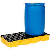 Eagle 1632 2 Drum Spill Containment Modular Platform - Yellow with No Drain