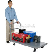 "Global Industrial™ Steel Deck Platform Truck 60 x 30 1000 Lb. Capacity 5"" Polyurethane Casters"