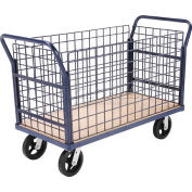 Global Industrial™ Euro Truck With 4 Wire Sides & Wood Deck 48 x 24 2400 Lb. Capacity