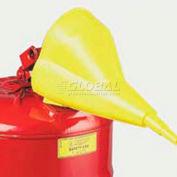 Justrite® Polypropylene Funnel for Type I Steel Safety Cans, 11202Y