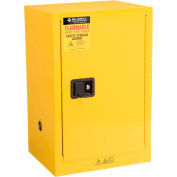 "Global Industrial™ Flammable Cabinet, Manual Close Single Door, 12 Gallon, 23""Wx18""Dx35""H"