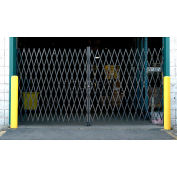 Global Industrial™ Double Folding Security Gate 16'W x 6-1/2'H