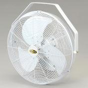 """J&D 14"""" Fan With Wall Ceiling Bracket White"""