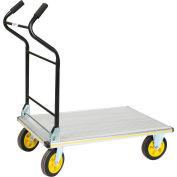Chariot à plateforme en aluminium avec poignée ergonomique repliable Wesco® 270382, 35-1/2 x 24, 660 lb