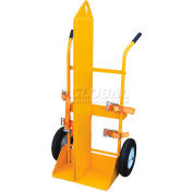 Fire Protection Welding Cylinder Cart CYL-EH-FP-FF Foam-Filled Wheels 22-13/16 x 34-1/4