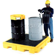 UltraTech Ultra-Spill Pallet Plus® Containment Pallet 9631 P4 4-Drum with Drain