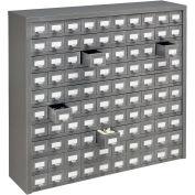 Meuble à tiroirs Global™,  36 po l x 9 po P x 34-1/2 po H, acier,100 tiroirs,