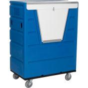 Global Industrial™ Hopper Front Plastic Security Bulk Truck, 43 Cu. Ft., Blue