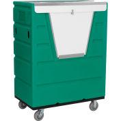 Global Industrial™ Hopper Front Plastic Security Bulk Truck, 43 Cu. Ft., Green